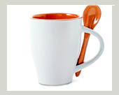 löffelbecher keramik orange