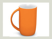 Trendy orange tasse becher logo bedrucken