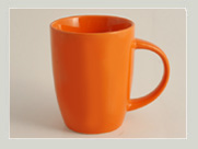 orange tasse firmenlogo
