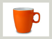 automaten becher orange rot