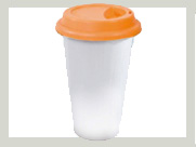 Coffee To Go Becher  deckel orange